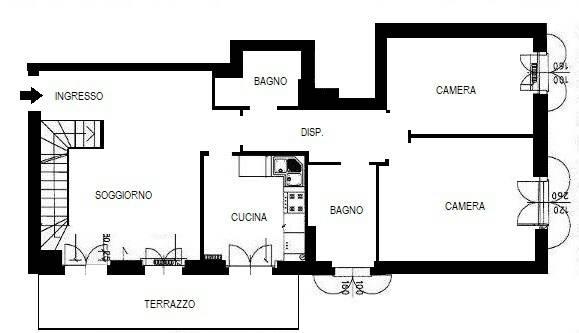 Attico via Giosuè Carducci, Peschiera Borromeo