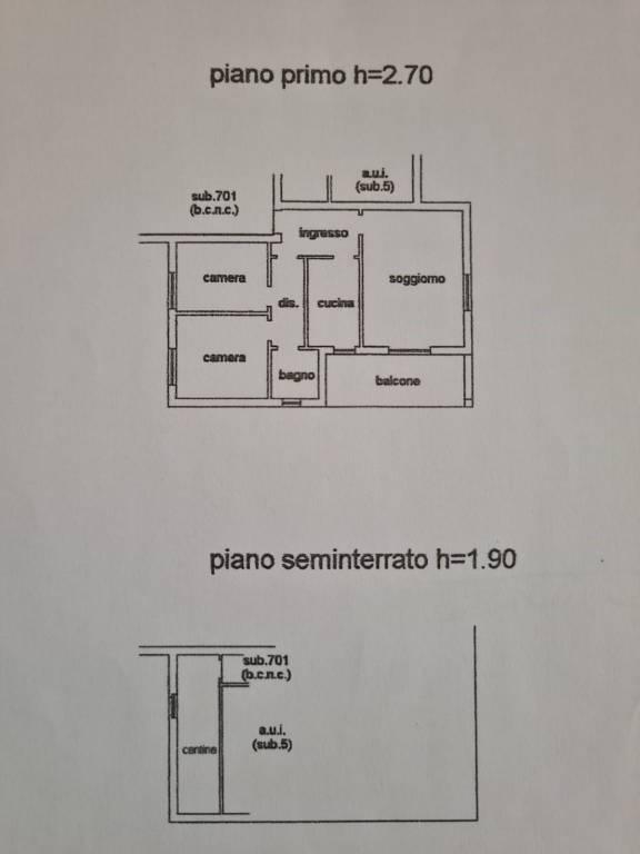 Trilocale via Botto 5, Roncola